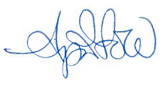 April Gold signature